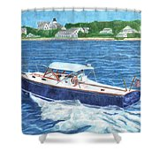 Great Ackpectations Nantucket Shower Curtain by Dominic White