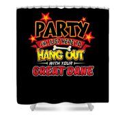 Great Dane Dog Party Shower Curtain