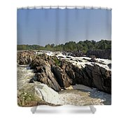 Great Falls On The Potomac Panorama  Shower Curtain