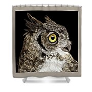 Great-horned Owl Shower Curtain