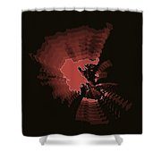 Greece Radiant Map 3 Shower Curtain