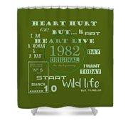 Green 1982 Original Shower Curtain