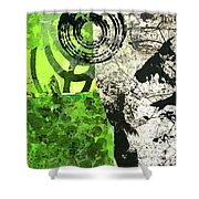 Green Balance No. 3 Shower Curtain