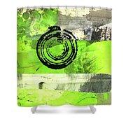 Green Balance No. 4 Shower Curtain