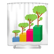 Green Economy Investment Concept Shower Curtain