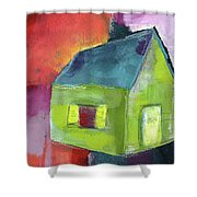 Green House- Art By Linda Woods Shower Curtain