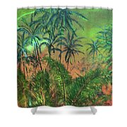 Green Of The Night Shower Curtain