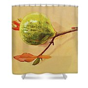 Green Pomegranate Shower Curtain