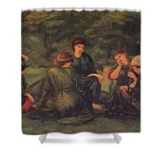 Green Summer 1868 Shower Curtain