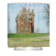 Greenknowe Tower Ruin Shower Curtain