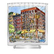 Greenwich Village Laundromat Shower Curtain