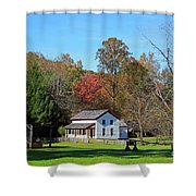 Gregg Cable House In Cades Cove Historic Area Of The Smoky Mountains Shower Curtain