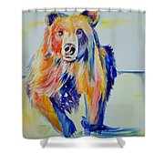Grizzly Sprint  Shower Curtain