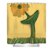 Growing Bronze Shower Curtain