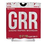 Grr Grand Rapids Luggage Tag II Shower Curtain