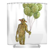 Grumpy Troll Smiling Peace Offering Shower Curtain