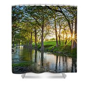 Guadalupe River Sunset Shower Curtain