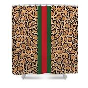 Gucci Leopard Print-1 Shower Curtain