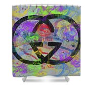 Gucci Logo Abstract Shower Curtain