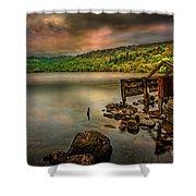 Gwynant Lake Old Boat House Shower Curtain