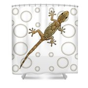 H Is For House Gecko Shower Curtain