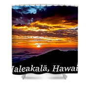Haleakala Hawaii Shower Curtain