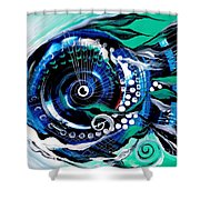 Half Smile Break The Ice Fish Shower Curtain