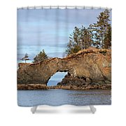 Halibut Cove Rock Formation Kenai Peninsula Alaska Shower Curtain