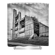 Halifax Explosion Memorial Bell Tower Bw Shower Curtain