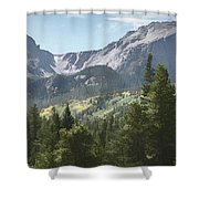 Hallett Peak Colorado Shower Curtain