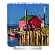 Halls Harbour Nova Scotia Shower Curtain