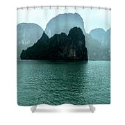 Halong Bay Mountains, Vietnam Shower Curtain