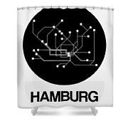 Hamburg Black Subway Map Shower Curtain