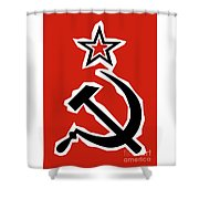Hammer And Sickle Grunge Shower Curtain