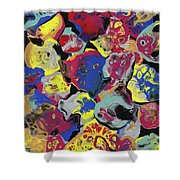 Hammer Flowers Shower Curtain
