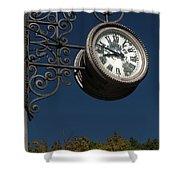 Hanging Clock Shower Curtain