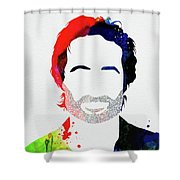 Hank Moody Watercolor Shower Curtain
