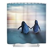 Happy Feet Shower Curtain