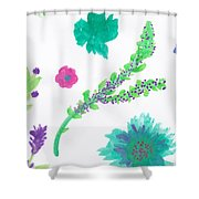 Happy Flower - Pintoresco Art By Sylvia Shower Curtain