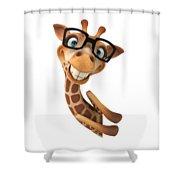 Happy Giraffe Shower Curtain