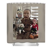 Happy Halloween Toys Shower Curtain