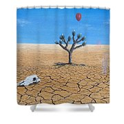 Happy Little Tree Shower Curtain by Kevin Daly
