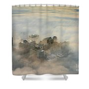 Harborview In The Clouds Shower Curtain