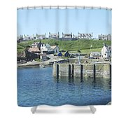 harbour at St. Abbs, Berwickshire Shower Curtain