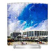 Hard Rock Beach Abstract Shower Curtain