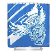 Harley Davidson Tank Logo Abstract Artwork Shower Curtain