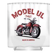 Harley-davidson Ul 1941 Shower Curtain