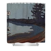 Harmony Beach Fog And Rain Shower Curtain