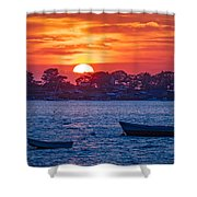 Harpswell Sunset Shower Curtain