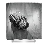 Hasselblad On The Floor Shower Curtain